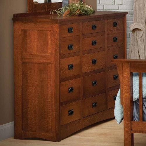 Daniel 39 S Amish Mission 15 Drawer Solid Wood Triple Dresser Pilgrim Furniture City Dressers