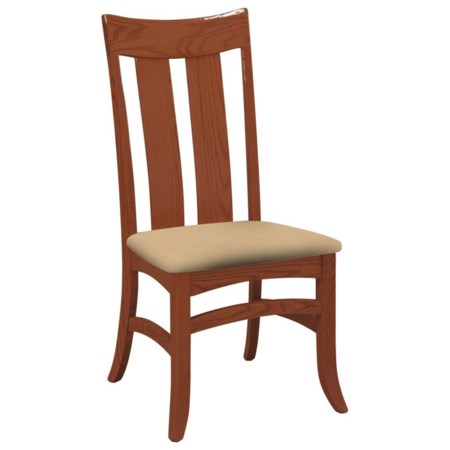 Galveston Side Chair with Upholstered Seat