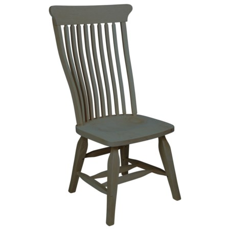 Old Country Solid Wood Side Chair