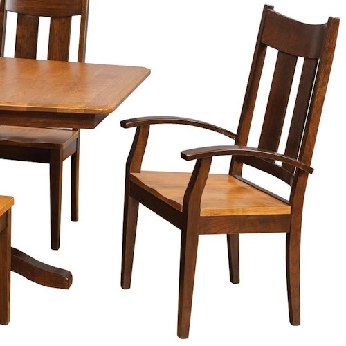 Daniel 39 S Amish Chairs And Barstools Tampa Arm Chair Belfort Furniture Dining Arm Chairs