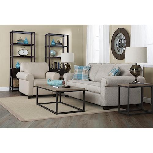 Decor Rest 2179 Stationary Living Room Group Stoney
