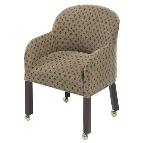 Designmaster chairs laurel tub chair on casters design for Living room chairs on wheels