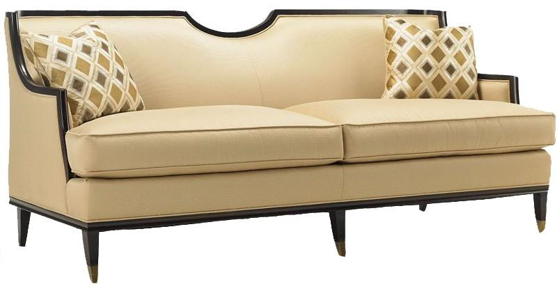 Preferred Drexel Upholstered Accents H1834-S Sofa of Logic with Exposed Wood  PO36