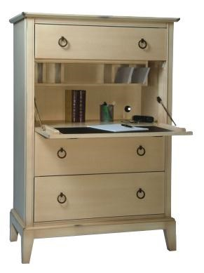 Durham Solid Choices Secretary Chest With Drop Down