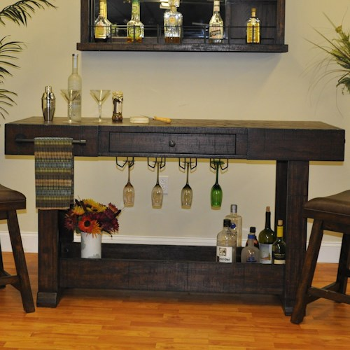 E C I Furniture Gettysburg Open Island Bar With Hanging Stemware Rack Furniture Options New