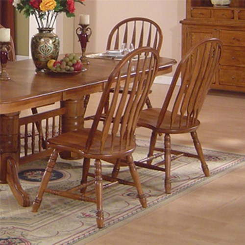 E c i furniture solid oak dining 7000 03 s arrowback side for Furniture 0 percent financing