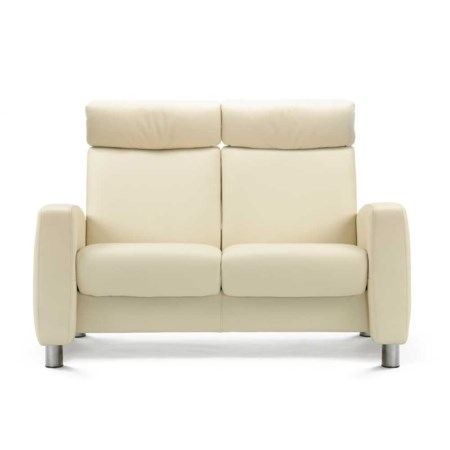 High Back Reclining 2 Seat Leather Loveseat