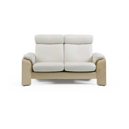 High Back Reclining Leather Loveseat