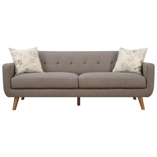 Modern Accent Pillows For Sofa : Emerald Remix Tufted Back Contemporary Sofa with 2 Accent Pillows - Wilson s Furniture - Sofas ...