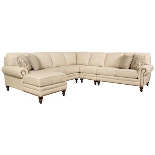 England Amix Seven Seat Sectional Sofa with Left Side ...