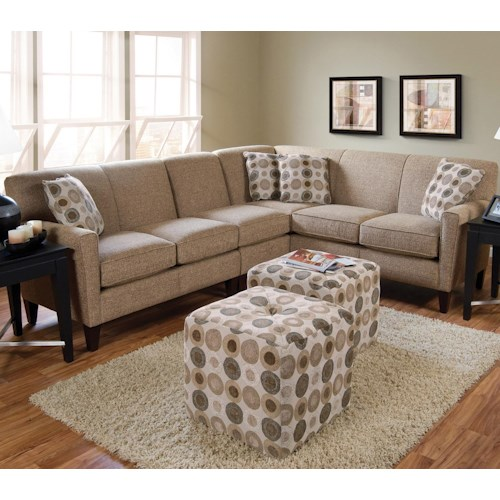 England Collegedale Contemporary 3 Piece Sectional Colder 39 S Furniture And Appliance Sofa
