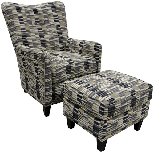 England daughtry chair and ottoman pilgrim furniture for Furniture 0 percent financing