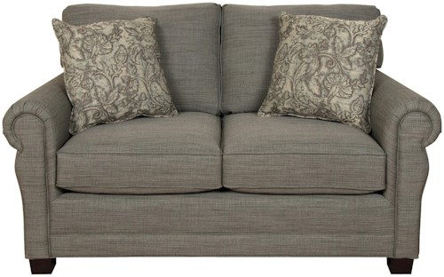 England Green Two Cushion Loveseat With Traditional Style Reid 39 S Furniture Love Seats