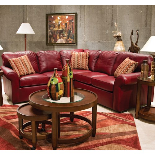 England Lochlan 2 Piece Leather Sectional Colder 39 S Furniture And Appliance Sofa Sectional