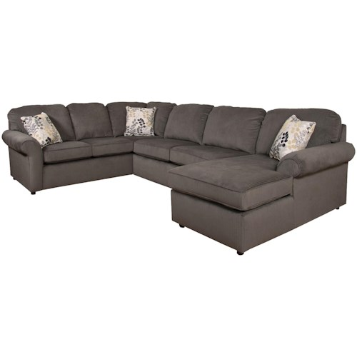 England Malibu 5-6 Seat (right side) Chaise Sectional Sofa ...