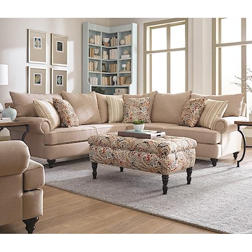 England Rosalie Sectional Sofa Pilgrim Furniture City