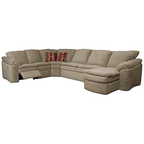 England seneca falls 5 piece reclining sectional colder for England furniture sectional sofa