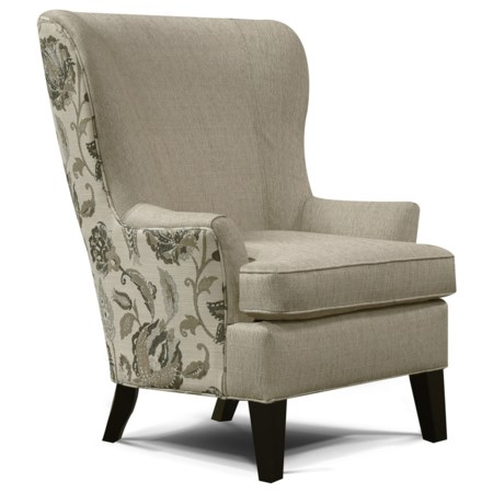 Living Room Arm Chair with Wing Style