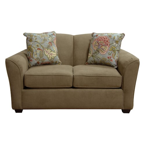 England Smyrna Loveseat With Casual Contemporary Style Reid 39 S Furniture Love Seats Thunder