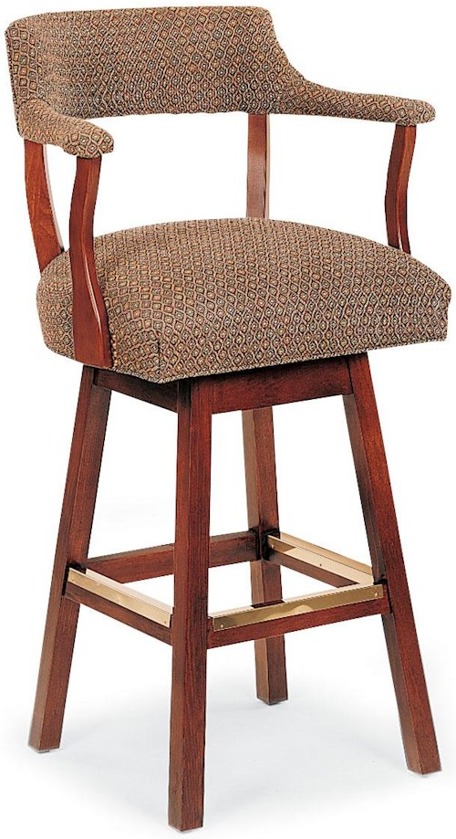 Grove park barstools wooden swivel bar stool with upholstered cushions sprintz furniture bar Home bar furniture nashville tn
