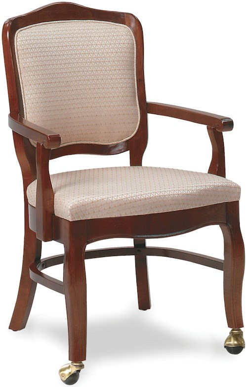 Fairfield chairs 5331 01 exposed wood chair with casters for Living room chairs on wheels