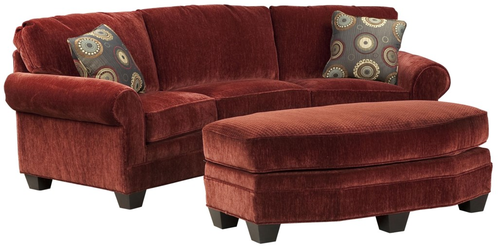 Favorite Fairfield Sofa Accents Curved Conversation Sofa with Traditional  LJ21
