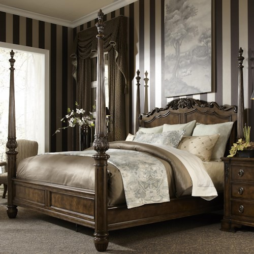 Fine furniture design belvedere king traditional antique style four poster bed design for King four poster bedroom sets