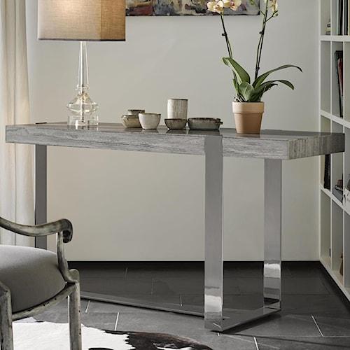 Fine Furniture Design Brentwood Talia Console With Metal Base Design Interiors Sofa Table