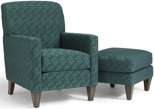 Flexsteel Accents Cute Chair And Ottoman Godby Home