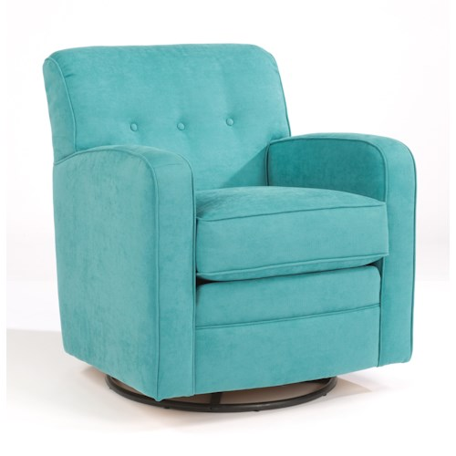 Flexsteel accents lavendar swivel glider chair with for Sofa 500 euro