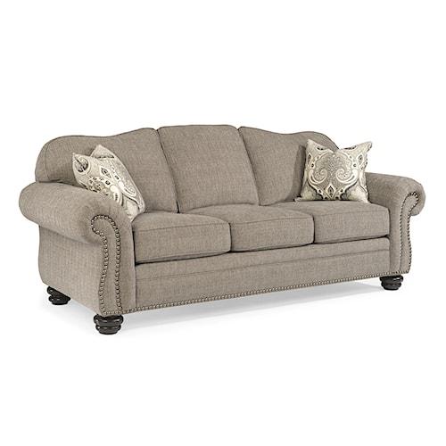 Flexsteel Furniture Uk: Flexsteel Bexley Traditional Sofa With Nail Head Trim