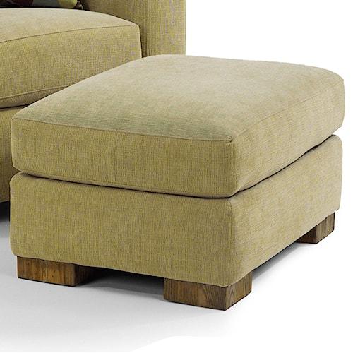 Flexsteel Bryant Contemporary Ottoman With Luxury Cushion Belfort Furniture Ottoman