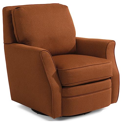 living room furniture upholstered chairs flexsteel brynn swivel chair