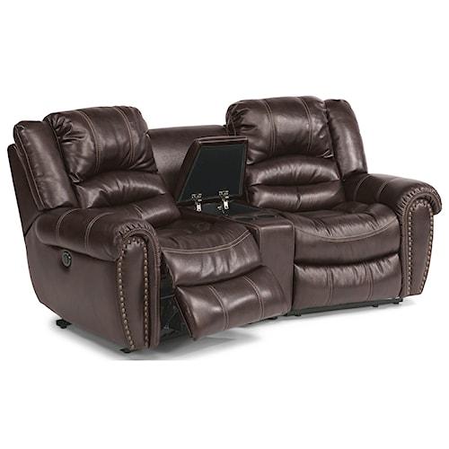 Flexsteel crosstown three piece power reclining sectional for Sofa 500 euro