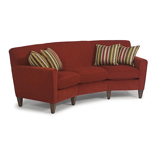 Flexsteel Sofa Vintage: Flexsteel Digby Contemporary Conversation Sofa