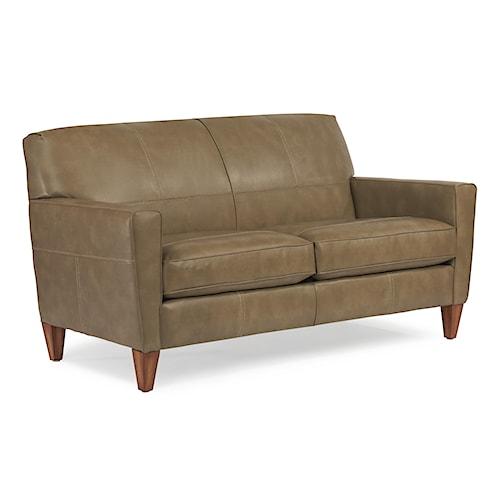 Flexsteel sofa flexsteel laudes dylan leather stationary for Furniture 0 down