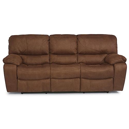 Flexsteel latitudes grandview reclining sofa with plush for Furniture 0 down