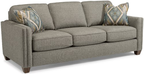 Flexsteel hyacinth contemporary sofa with welt cording for Sofawelt outlet