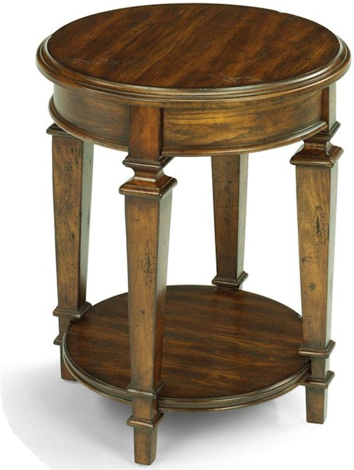 Flexsteel oakbrook small traditional round tall standing for Furniture 0 down