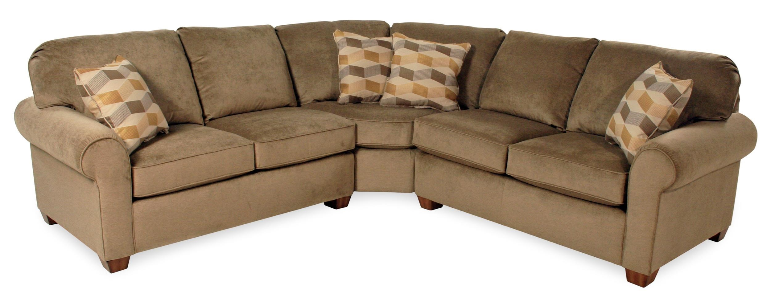3 piece sectional sofa pacific coast cream 3 piece for Flexsteel 4 piece sectional sofa with right arm facing chaise in brown