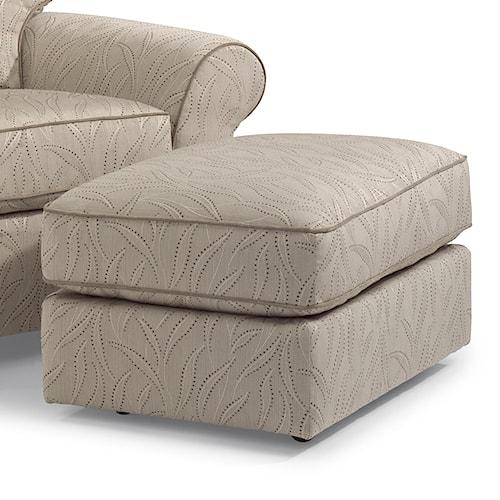 Flexsteel vail rectangular ottoman story lee furniture for Chair 4 cliffs vail