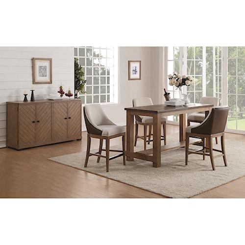 flexsteel wynwood collection carmen bar height casual. Black Bedroom Furniture Sets. Home Design Ideas