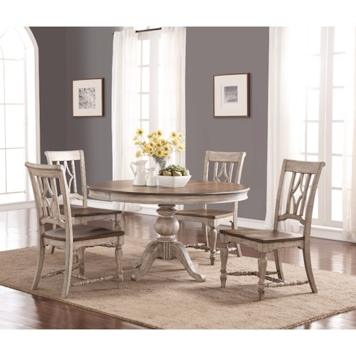 Flexsteel Wynwood Collection Plymouth Cottage Round Table And Chair Set Pilgrim Furniture City