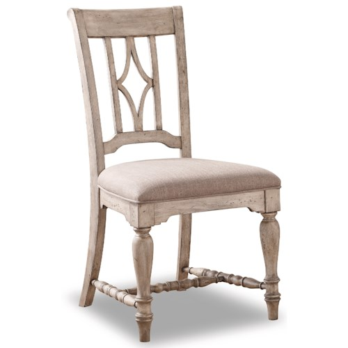 Flexsteel Wynwood Collection Plymouth W1147 840 Dining Side Chair Northeast Factory Direct