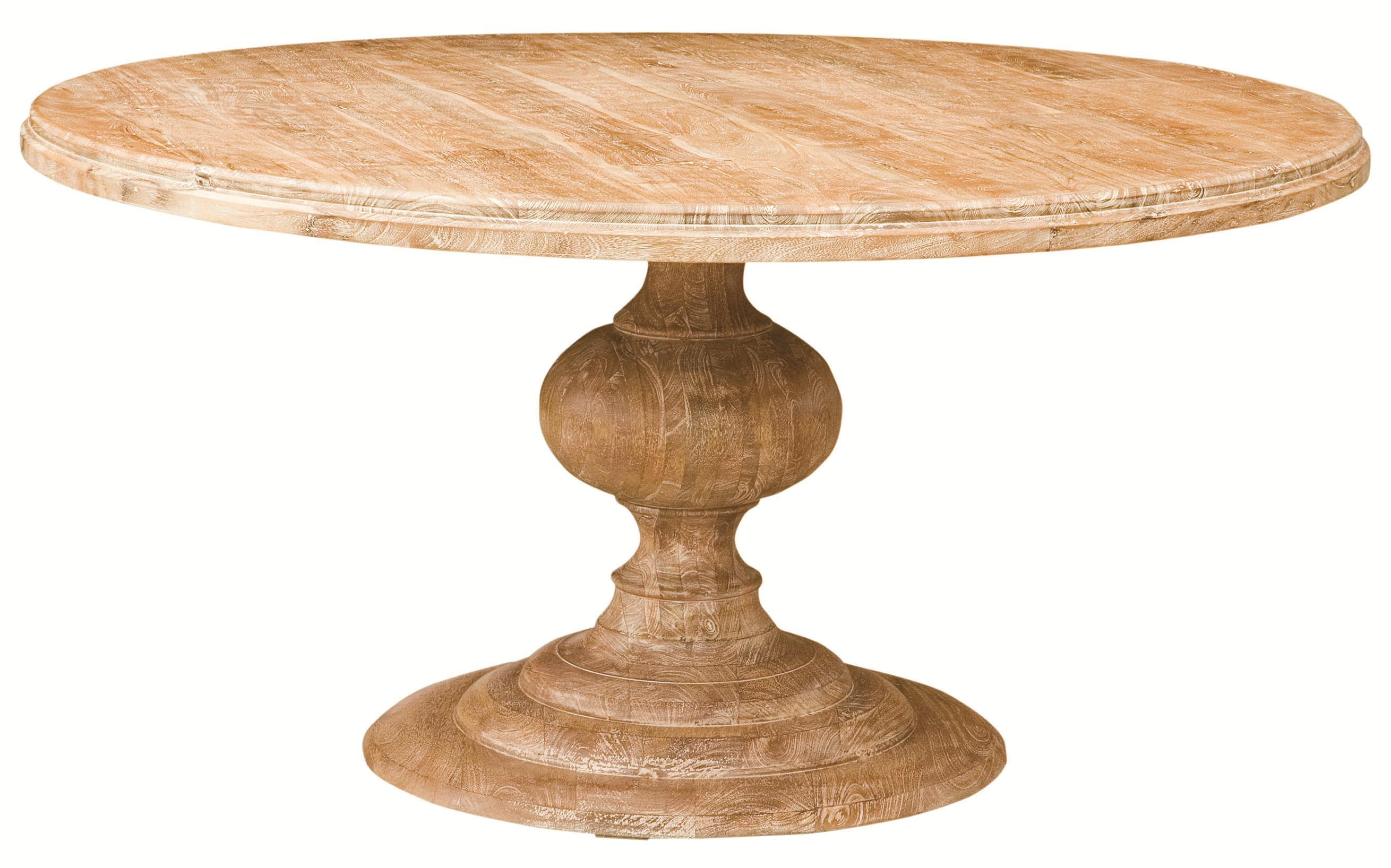 """Four Hands Magnolia 60"""" Round Dining Table with Pedestal ..."""