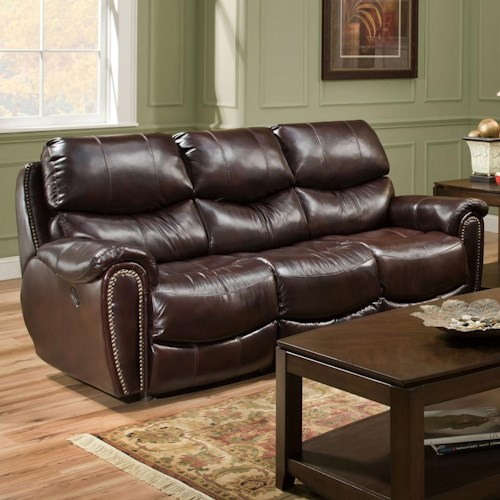 Franklin richmond reclining sofa with nail head trim Living room furniture richmond va