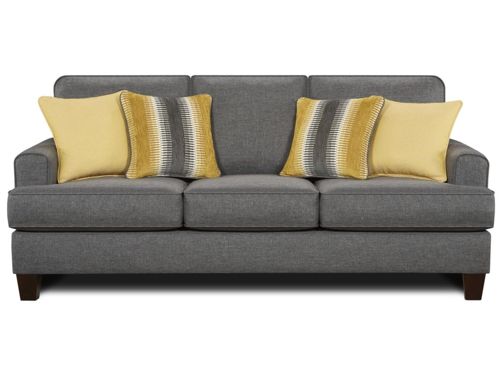 Gray contemporary sofa casual contemporary gray blue sofa for Blue gray sofa