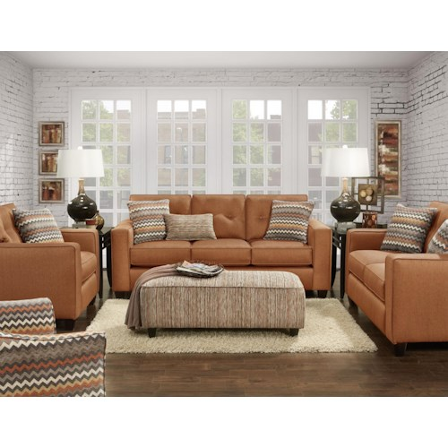 Fusion Furniture 3560b Stationary Living Room Group Colder 39 S Furniture And Appliance