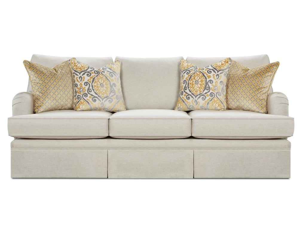Traditional sofas churchill upholstered sofa linen for Traditional sofas and loveseats