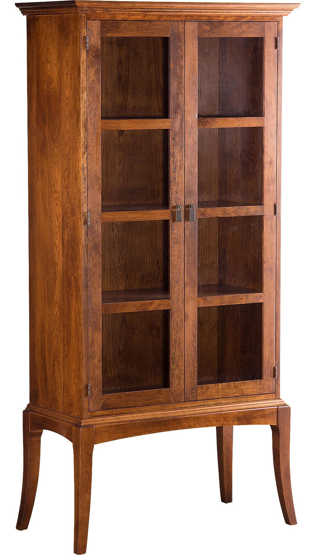 Greenbrier Sabin Bookcase With Glass Doors And Cabriole Legs